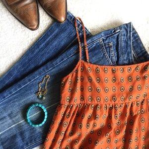 Juicy Couture Orange Cotton Babydoll Tank